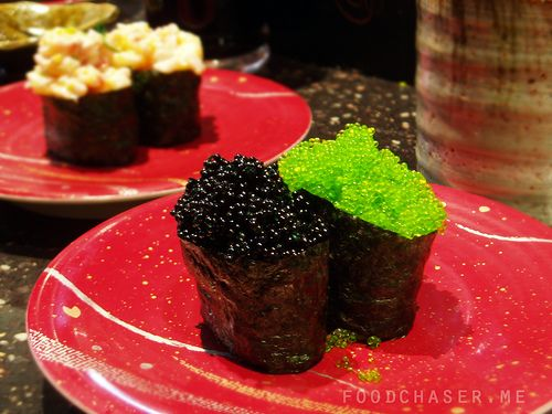 https://flic.kr/p/68KaXp | Black and Green Roe Sushi Ships