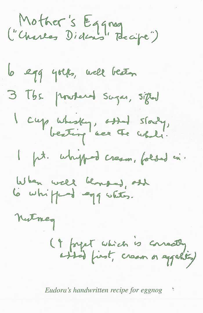 Eudora Welty's Christmas Eggnog