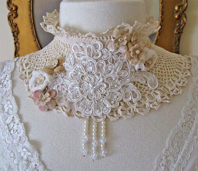 Vintage Bride Choker: Crochet Collars, Inspiration, Vintage Wedding Gowns, Vintage Bride, Vintage Wardrobe, Bride Choker, Theme Wedding, Grandma Things, Paris Rag