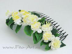 Свадьба : Гребень для украшения прически с цветами жасмина - Fito Art