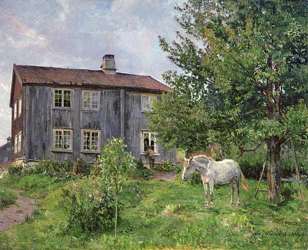 Gerhard Munthe (Norway, 1849-1929): The Farmer's Garden
