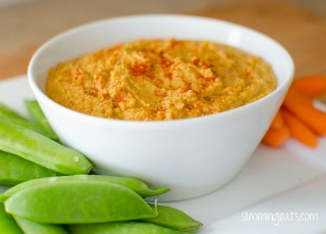 Slimming Eats Roasted Sweet Potato Hummus - gluten free, Slimming World and Weight Watchers friendly