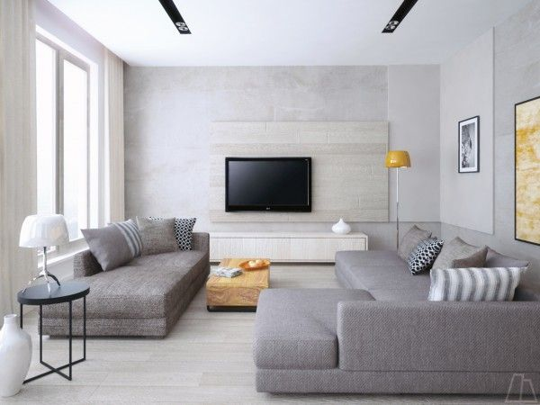 Simple Is Perfect In This Cool Grey Living Room With