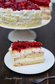 Jennys Backwelt: Vanille-Himbeer Torte