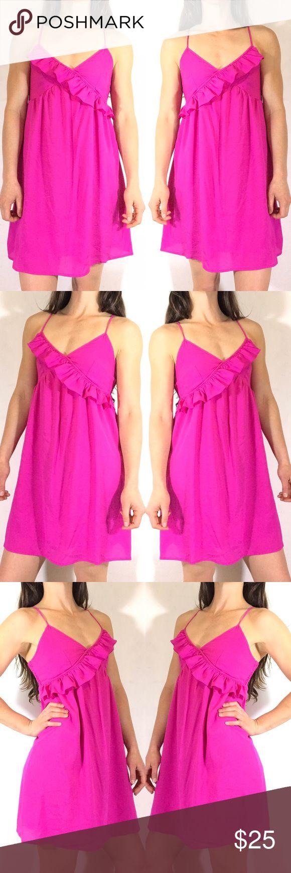 FOREVER 21 HOT PINK DRESS Cute hot pink dress. Forever 21 Dresses Mini