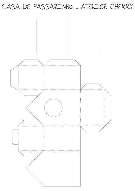 Casa de passarinho em papel de scrap