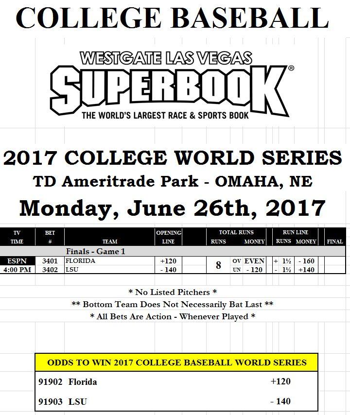 College World Series Championship Odds: Florida vs. LSU