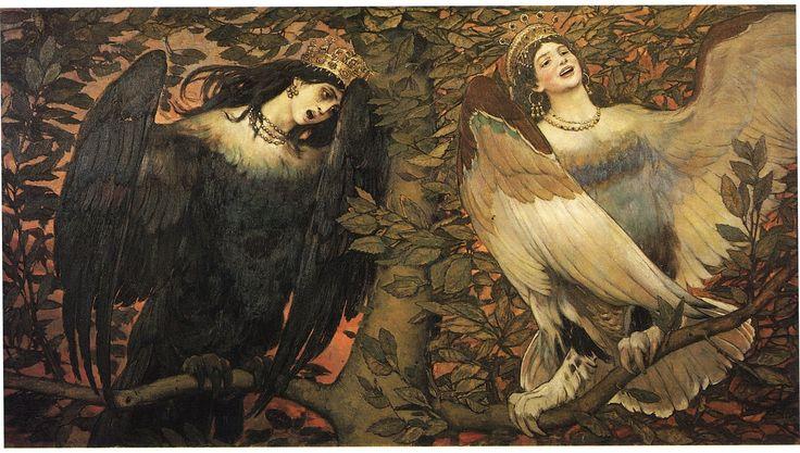 Птица печали и птица радости, Васнецов 1896