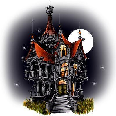 Spooky House Digi Stamp in Digital images