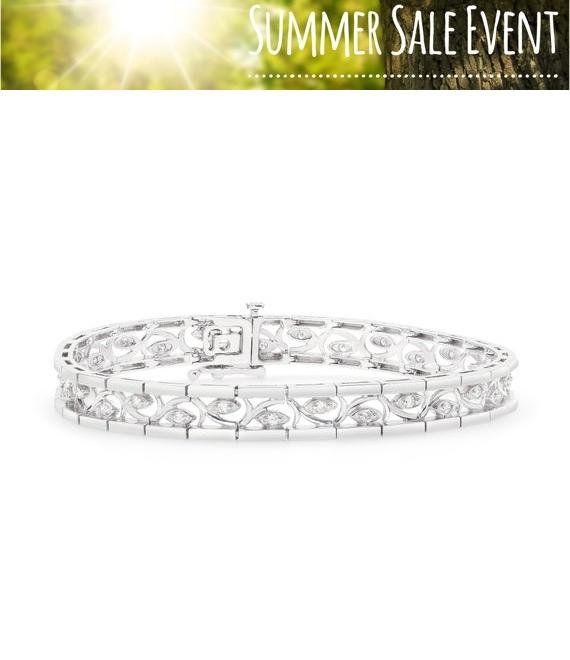 1 2 Carat Diamond Bracelet With Curved Inlay Jewelry Bracelet Etsymktgtool Diamondvine Diamondeyebracele White Gold Bracelet Fine Jewelry Diamond Bracelet