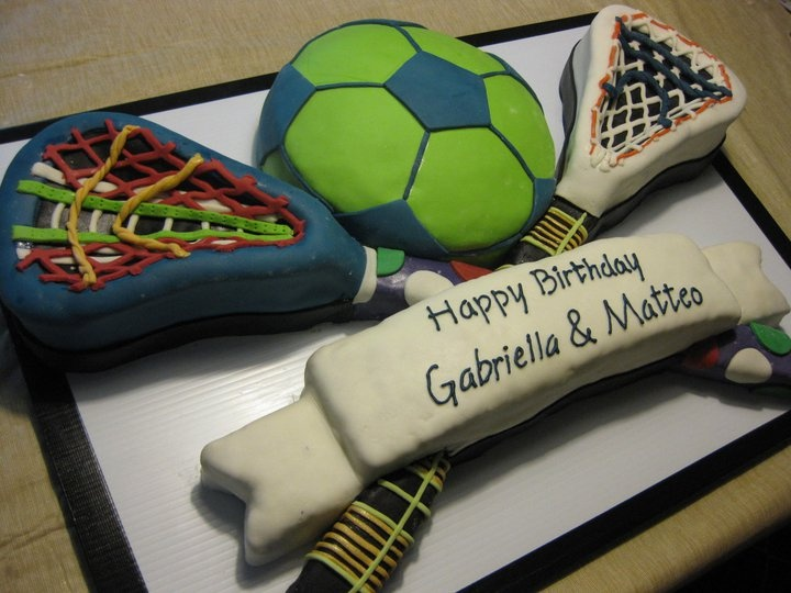 Soccer And Lacrosse Birthday Cake My Own Personal Works