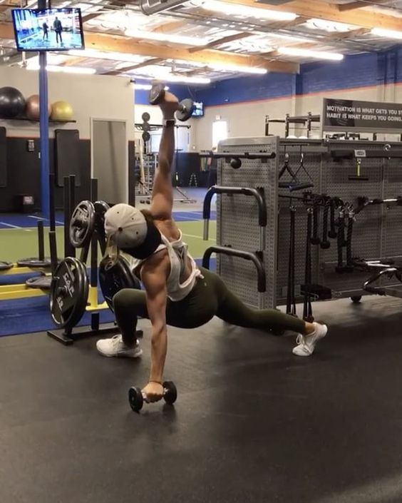 """6,288 Likes, 83 Comments - Alexia Clark (@alexia_clark) on Instagram: """"Dumbbell circuit! 1. 10 lateral and Front Raises (make sure you switch legs!) 2. 15 reps each 3.…"""""""