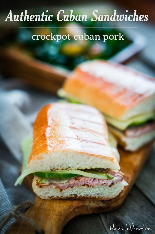 This authentic Cuban sandwich recipe is amazing! The mojo pork is roasted in a slow cooker! I got the recipe from by best friend from Cuba!