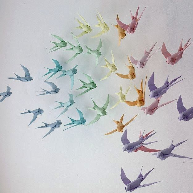 Tektonten Papercraft - Free Papercraft, Paper Models and Paper Toys: Origami Swallows