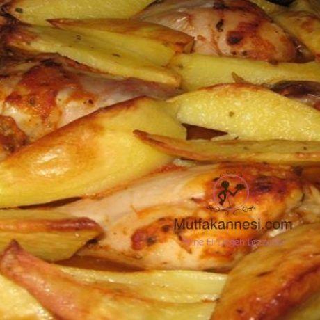 Fırında Tavuklu Kabaklı Patates Tarifi