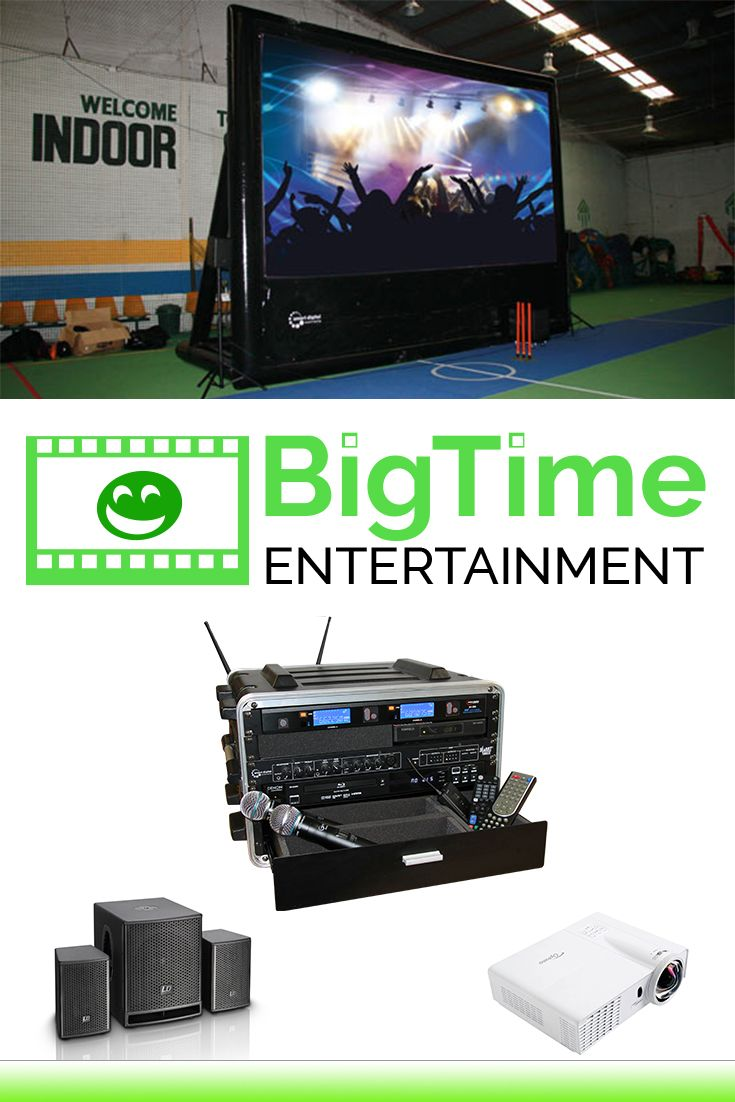 Here is what you need to organise a party: A big inflatable cinema screen, a pair of speakers with a sub, a bright projector and a SmartBox Platinum Plus. Unlimited fun both indoors and outdoors!