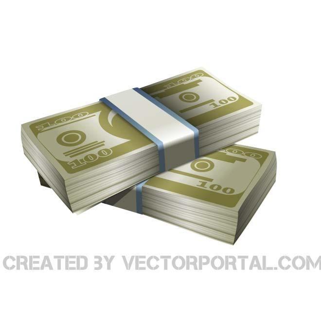 Money stacks vector image.