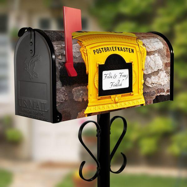 US Mailbox mit Standfuß Schwarz Motiv Postkasten von banjado via dawanda.com