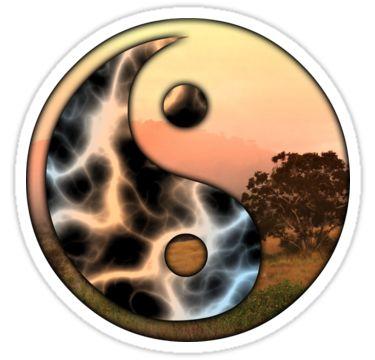 Yin - Yang Sticker 07 by StickerNuts