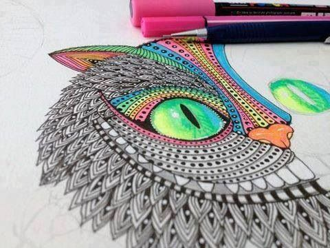 chesire cat drawing