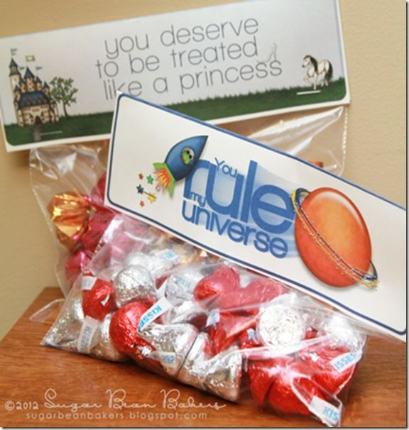 Free Treat Bag Printables- great for Valentine's Day.