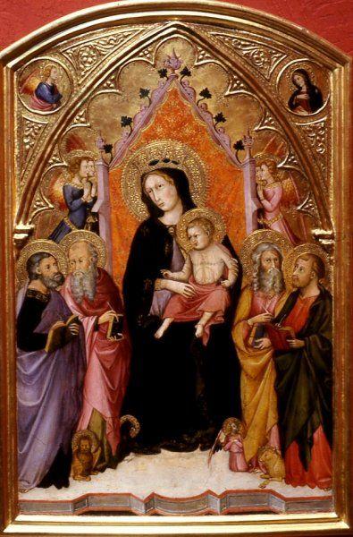 Andrea di Bartolo - Madonna con Bambino e Evangelisti - 1400-1410 - tempera e oro su tavola - Walters Art Museum, Baltimore