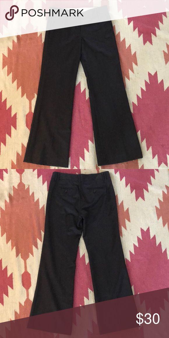 J. Crew Charcoal Grey Dress Pants - tab front  - full leg - wool & acetate lining - 31 inch inseam J. Crew Pants Trousers