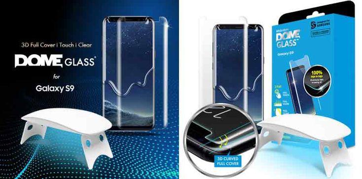 Whitestone Dome Glass Galaxy S9 / S9 Plus Full Cover Screen Protector