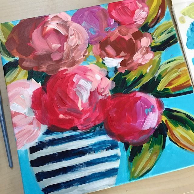 Easy Flower Painting Tutorial On Youtube Learn How To Paint Easy