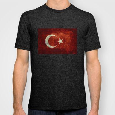 The National flag of Turkey - Vintage version T-shirt