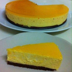 缶詰で!桃とチーズのムースケーキ