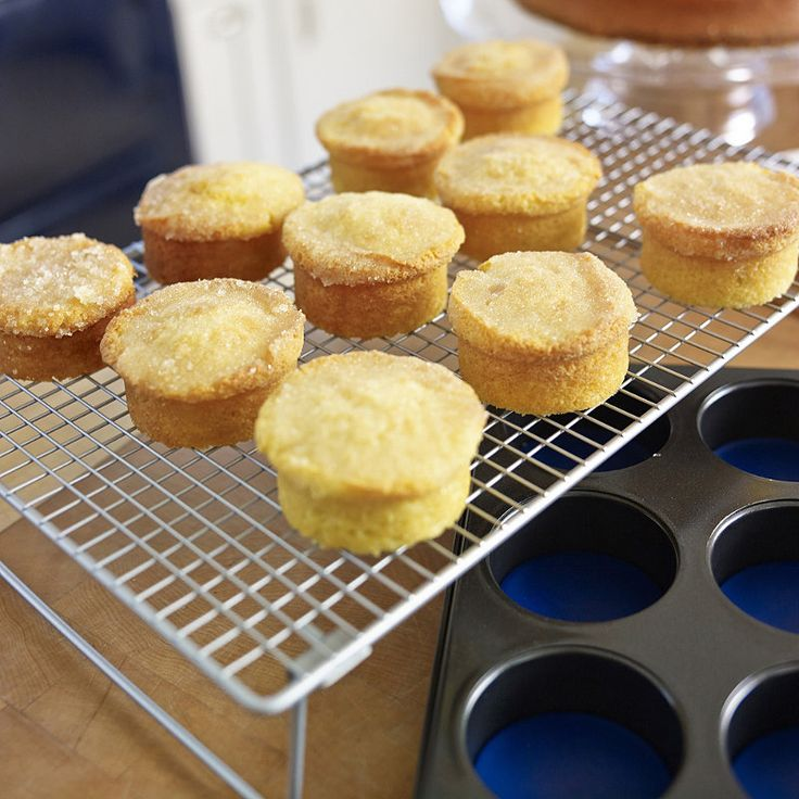 "Got the Bake Off blues? We know what will help… ""These have a wonderful crunchy lemon topping. It is important to spoon the icing onto the warm cake so the lemon juice soaks into the cake. If using butter make sure it is really soft but not oily.""     What You Need   FOR…"