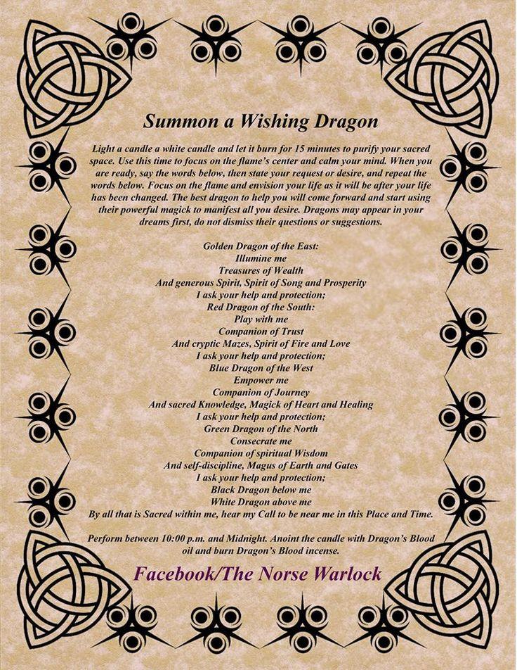 summon dragon spell, Celtic                                                                                                                                                                                 More