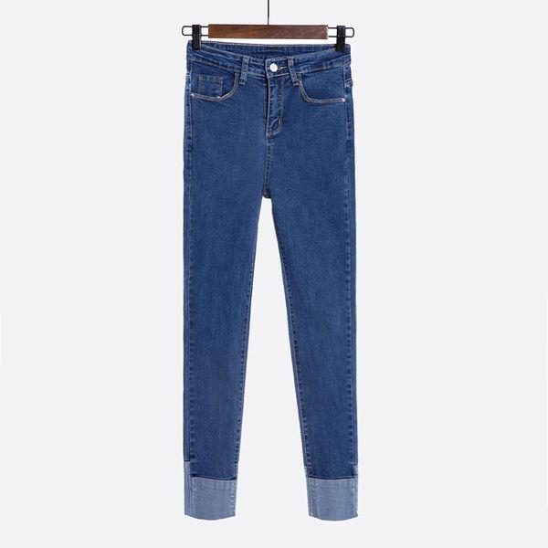 Шикарные талии джинсы женщина колготок 2017 Hitz корейских студенты значительно тонкий прилив плотно брюки ноги