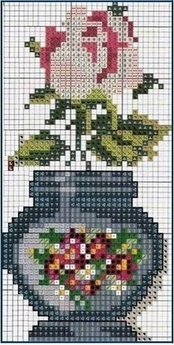 cross stitch. I like the container shape ~!~