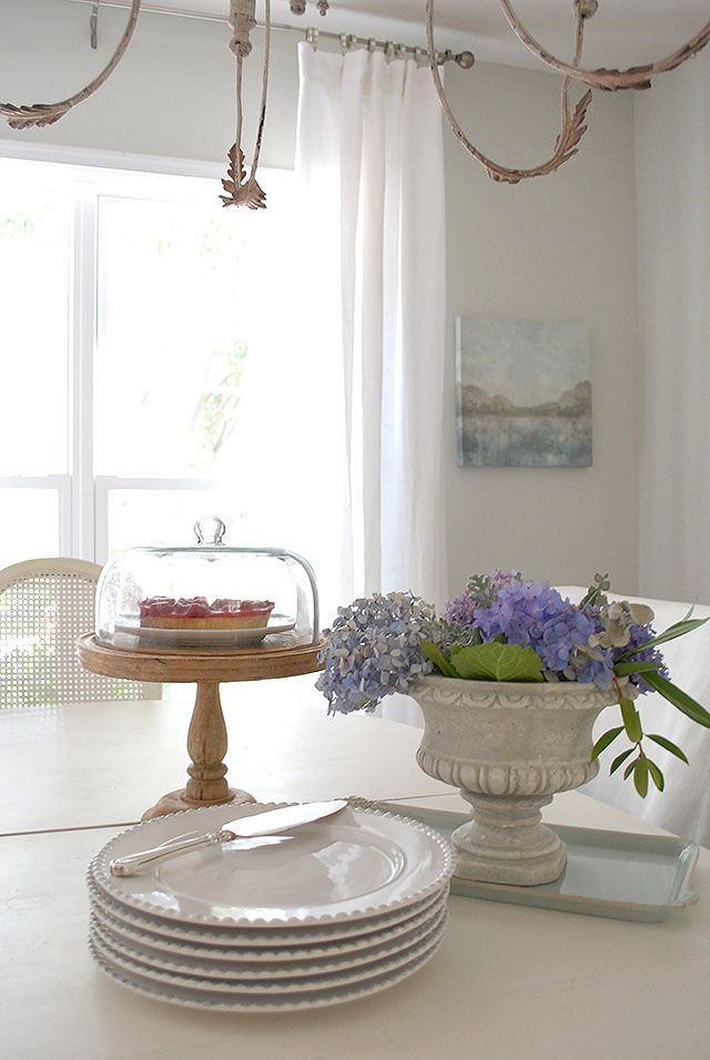 Dining Room Updates Including New Linen Draperies