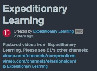 Expeditionary Learning on Vimeo | This channel includes videos about crew, expeditions, etc.