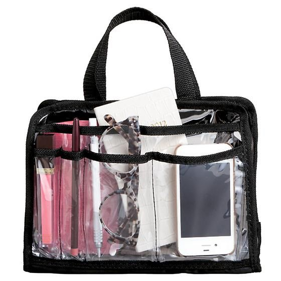 Add our Handbag Organizer Insert to your purse, tote or diaper bag to keep items organized and accessible.  It includes multiple pockets to keep everything from cosmetics to writing utensils in place.  The ultra clear material makes it easy to find the item you're looking for.  When it's time to change handbags, simply place the organizer in the new bag!