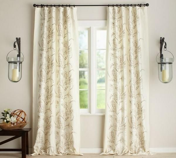 Pottery Barn Flora Rideau Drapes