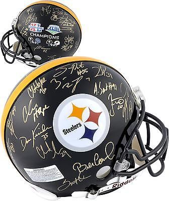 Signed NFL Pittsburgh Steelers Super Bowl XL & XLIII Signed Helmet
