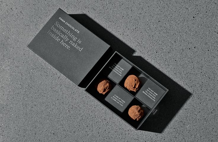 Beautiful packaging by The Company You Keep for Pana Chocolate.