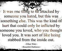 """putting a guy on the back burner. . .""""it was sort of like being stabbed from the inside out."""""""
