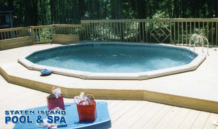 Nice job staten island pool above ground pool decks for Above ground pool decks for sale
