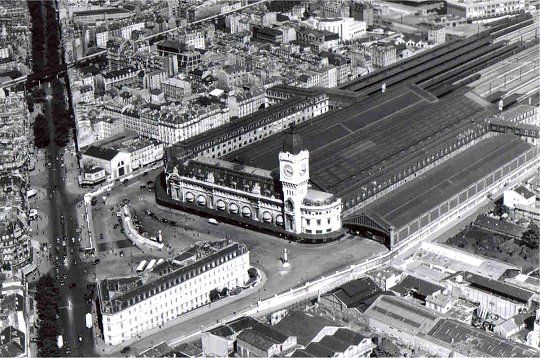 Paris vue de haut - En 1950 - La gare de Lyon