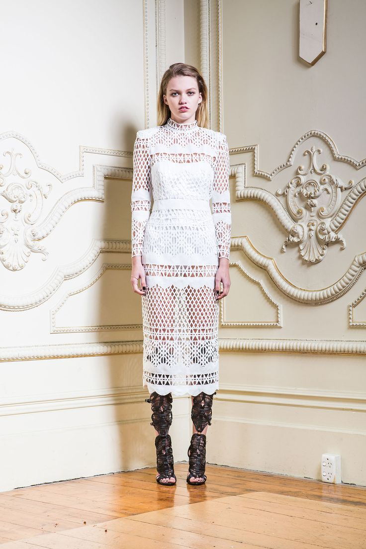 Asilio - A Love Like That Ls Midi Dress In Exclusive Ivory Lace