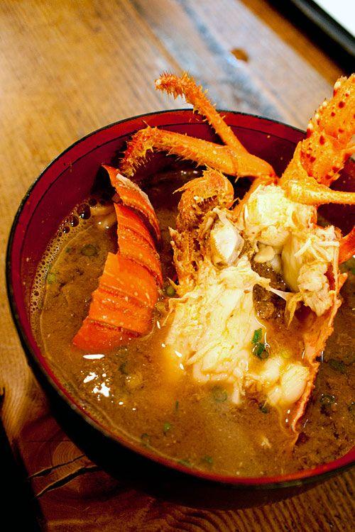 伊勢海老のお味噌汁・  博多磯貝 藤崎店 Crab miso soup