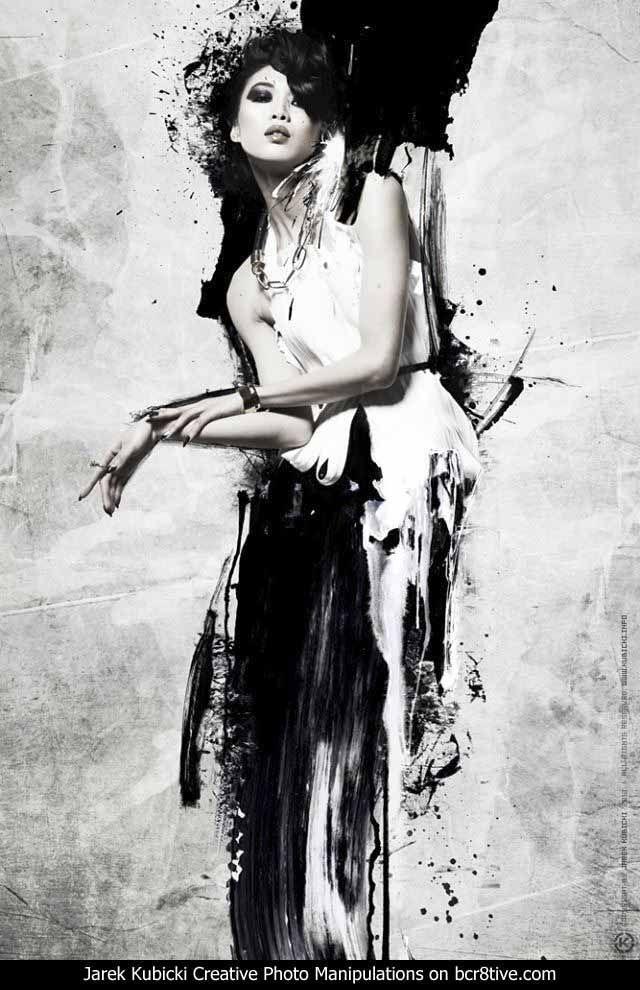Jarek Kubicki Digital Photo Manipulations - Z!INK Magazine Collaboration with photographer Lindsay Adler