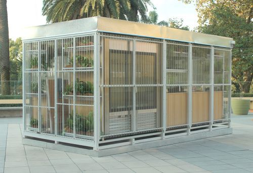 """Located in the rooftop of Buenos Design center (Recoleta). This """"pop-up box""""…"""