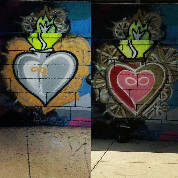 Verbesserungsmassnahme #sehrlangeworte #redone #frischeFarbe #graffiti #grafitti #malta #burningheart August 12 2017 at 05:36PM