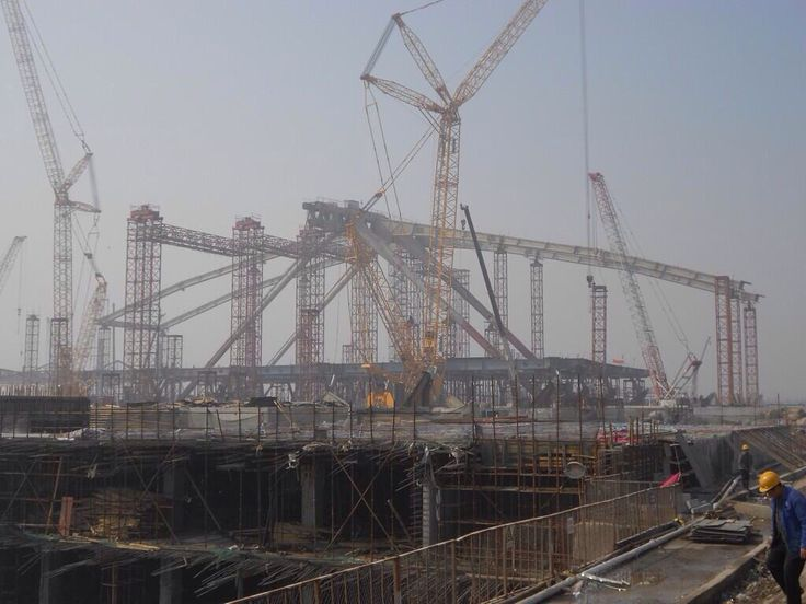 Qingdao North Railway station in construction Arep / MaP3